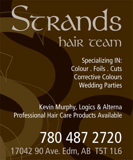 Strands Hair Team (780-487-2720) - Annonce illustrée======= -