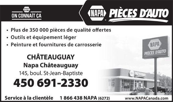NAPA Pièces D'auto (450-691-2330) - Display Ad -