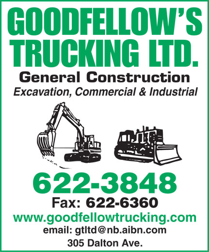 Goodfellow's Trucking Ltd (506-622-3848) - Annonce illustrée======= -