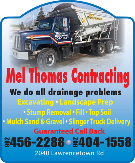 Mel Thomas Contracting (902-456-2288) - Annonce illustrée======= -