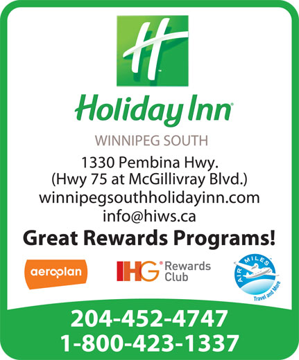 Holiday Inn (204-452-4747) - Display Ad -