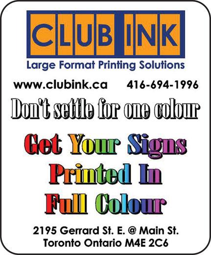 Club Ink (416-694-1996) - Annonce illustrée======= -