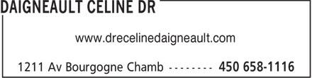 Clinique Médico-Esthétique Montérégie (450-658-1116) - Annonce illustrée======= - www.drecelinedaigneault.com