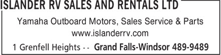 Ads Islander R V Sales & Rentals Ltd