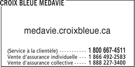 Croix Bleue Medavie (506-853-1811) - Annonce illustrée======= - medavie.croixbleue.ca