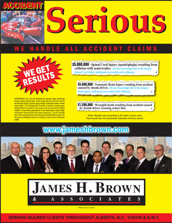 James H. Brown & Associates (1-800-616-0088) - Display Ad -