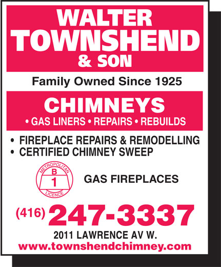 Townshend Walter Amp Son The Original Chimney Service 2011