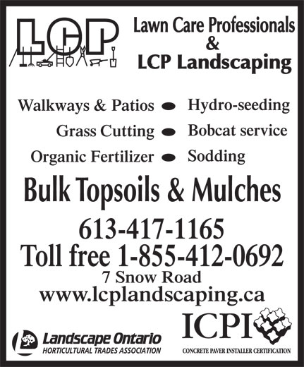 lawn care professionals 7 snow rd napanee on
