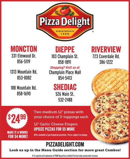 Pizza Delight (506-858-1891) - Annonce illustrée======= - font interstate regular compressed