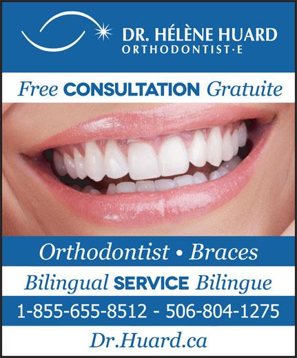 Huard Hélène Dre (506-855-5801) - Display Ad - Orthodontist   Braces