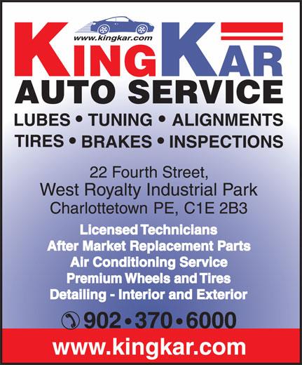King Kar Auto Service (902-370-6000) - Annonce illustrée======= -