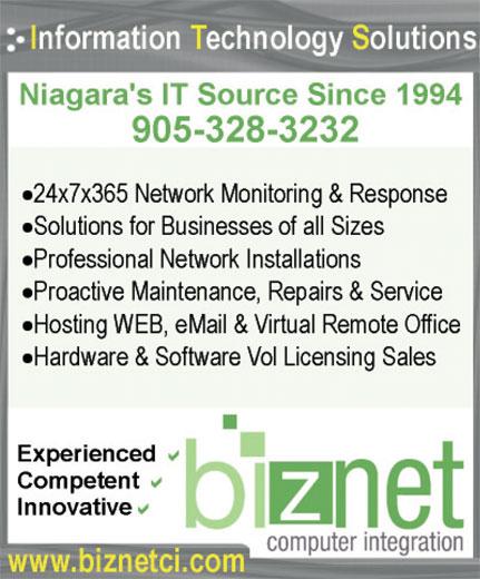 BizNet Computer Integration (905-328-3232) - Annonce illustrée======= -