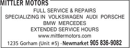 Mittler Motors (905-836-9082) - Annonce illustrée======= - FULL SERVICE & REPAIRS SPECIALIZING IN VOLKSWAGEN AUDI PORSCHE BMW MERCEDES EXTENDED SERVICE HOURS www.mittlermotors.com  FULL SERVICE & REPAIRS SPECIALIZING IN VOLKSWAGEN AUDI PORSCHE BMW MERCEDES EXTENDED SERVICE HOURS www.mittlermotors.com  FULL SERVICE & REPAIRS SPECIALIZING IN VOLKSWAGEN AUDI PORSCHE BMW MERCEDES EXTENDED SERVICE HOURS www.mittlermotors.com  FULL SERVICE & REPAIRS SPECIALIZING IN VOLKSWAGEN AUDI PORSCHE BMW MERCEDES EXTENDED SERVICE HOURS www.mittlermotors.com  FULL SERVICE & REPAIRS SPECIALIZING IN VOLKSWAGEN AUDI PORSCHE BMW MERCEDES EXTENDED SERVICE HOURS www.mittlermotors.com  FULL SERVICE & REPAIRS SPECIALIZING IN VOLKSWAGEN AUDI PORSCHE BMW MERCEDES EXTENDED SERVICE HOURS www.mittlermotors.com  FULL SERVICE & REPAIRS SPECIALIZING IN VOLKSWAGEN AUDI PORSCHE BMW MERCEDES EXTENDED SERVICE HOURS www.mittlermotors.com  FULL SERVICE & REPAIRS SPECIALIZING IN VOLKSWAGEN AUDI PORSCHE BMW MERCEDES EXTENDED SERVICE HOURS www.mittlermotors.com  FULL SERVICE & REPAIRS SPECIALIZING IN VOLKSWAGEN AUDI PORSCHE BMW MERCEDES EXTENDED SERVICE HOURS www.mittlermotors.com  FULL SERVICE & REPAIRS SPECIALIZING IN VOLKSWAGEN AUDI PORSCHE BMW MERCEDES EXTENDED SERVICE HOURS www.mittlermotors.com  FULL SERVICE & REPAIRS SPECIALIZING IN VOLKSWAGEN AUDI PORSCHE BMW MERCEDES EXTENDED SERVICE HOURS www.mittlermotors.com  FULL SERVICE & REPAIRS SPECIALIZING IN VOLKSWAGEN AUDI PORSCHE BMW MERCEDES EXTENDED SERVICE HOURS www.mittlermotors.com