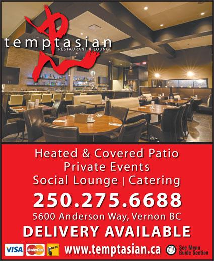 Temptasian Restaurant (250-275-6688) - Annonce illustrée======= -