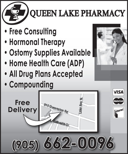 Queen Lake Pharmacy (905-662-0096) - Annonce illustrée======= -