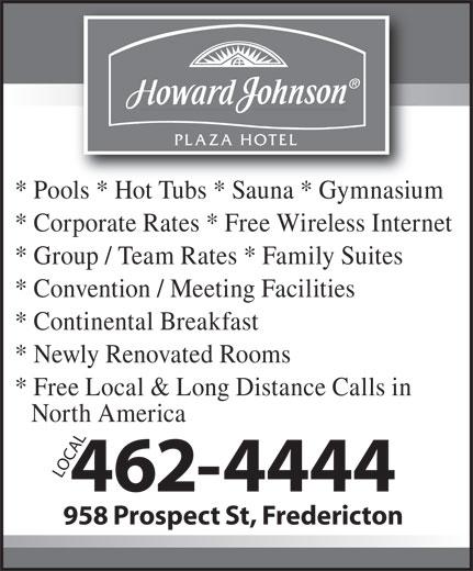 Howard Johnson (506-462-4444) - Display Ad -