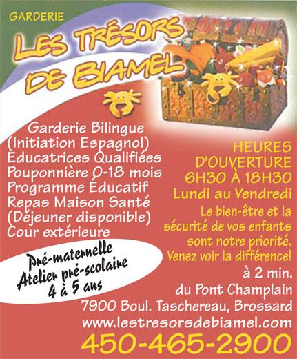 Ads Garderie Les Tresors Biamel