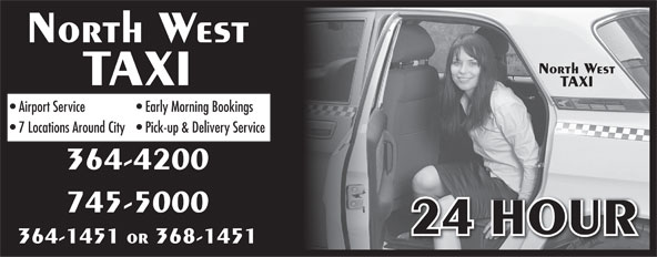 North West Taxi (709-364-1451) - Annonce illustrée======= -