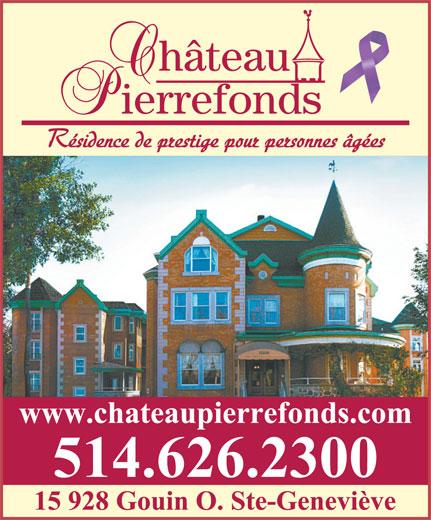 Château Pierrefonds (514-626-2300) - Annonce illustrée======= -