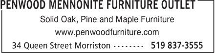 Penwood Furniture Outlet ... est. 1993 (519-837-3555) - Annonce illustrée======= - Solid Oak, Pine and Maple Furniture www.penwoodfurniture.com  Solid Oak, Pine and Maple Furniture www.penwoodfurniture.com  Solid Oak, Pine and Maple Furniture www.penwoodfurniture.com