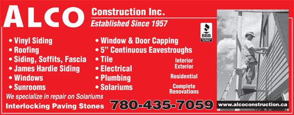 Alco Construction Inc 14303 58 Ave Nw Edmonton Ab