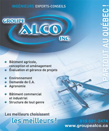 Groupe Alco (819-621-2474) - Annonce illustrée======= -