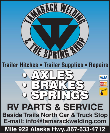 Tamarack Welding & The Spring Shop 2000 (867-633-4712) - Display Ad -