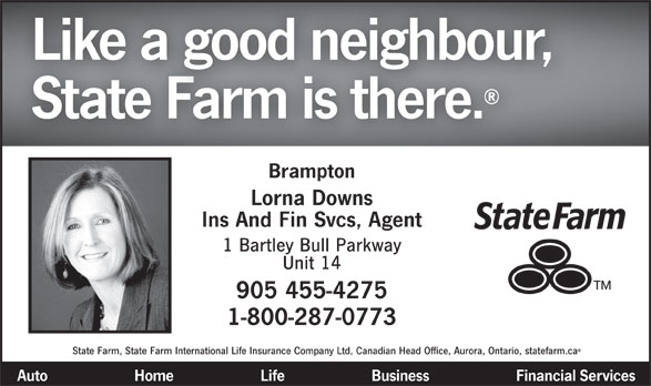 State Farm Insurance (905-455-4275) - Display Ad -