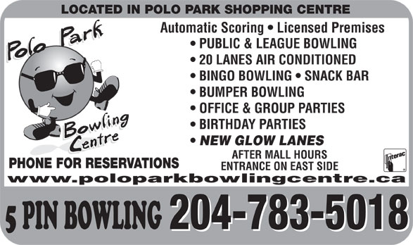 Polo Park Bowling Centre (204-783-5018) - Display Ad -