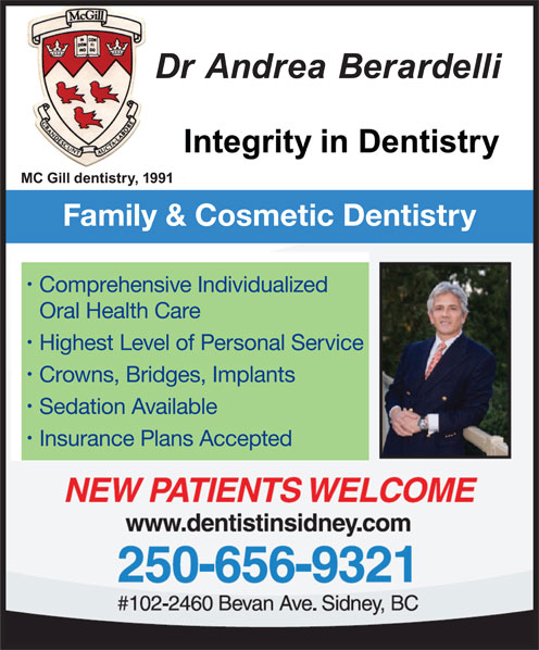 Dr Amir Majeet (250-656-9321) - Annonce illustrée======= - Family & Cosmetic Dentistry Comprehensive Individualized Oral Health Care Highest Level of Personal Service Crowns, Bridges, Implants Sedation Available Insurance Plans Accepted