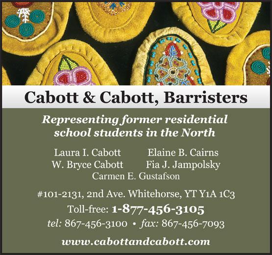 Cabott & Cabott Barristers (867-456-3100) - Display Ad - Carmen E. Gustafson