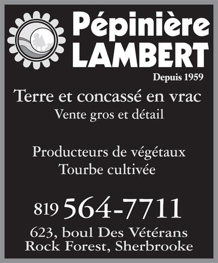 Serre & Pépinière Lambert (819-564-7711) - Display Ad -