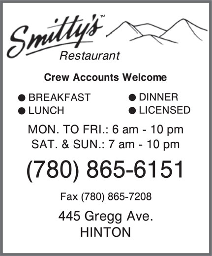 Smitty's (780-865-6151) - Display Ad -