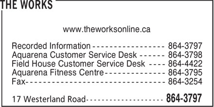 The Works (709-864-3797) - Display Ad - www.theworksonline.ca