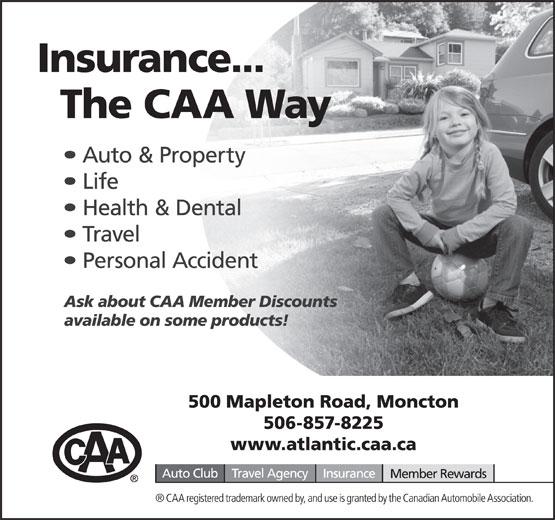 CAA (506-857-8225) - Annonce illustrée======= -