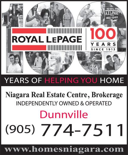 Royal LePage Niagara (905-774-7511) - Annonce illustrée======= -