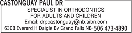 Castonguay Paul Dr (1-888-473-4890) - Display Ad -