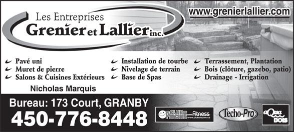 Les entreprises grenier et lallier granby qc 173 rue for Club piscine granby quebec