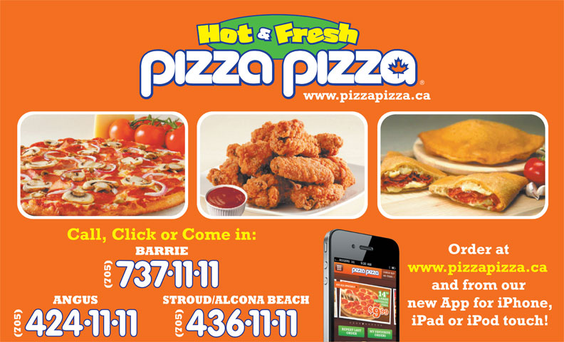 Pizza Pizza (705-737-1111) - Display Ad -