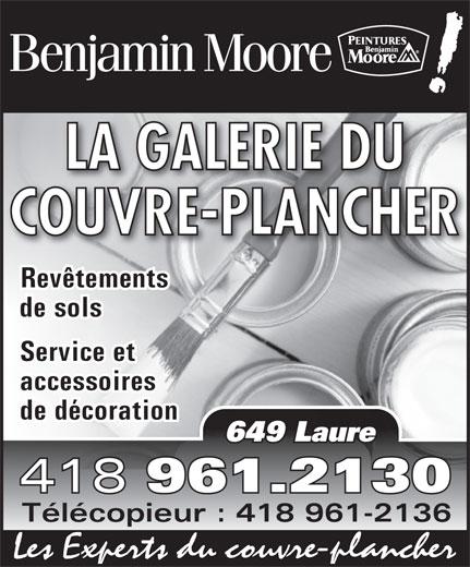 La Galerie du Couvre-Plancher Sept-Iles (418-961-2130) - Display Ad -