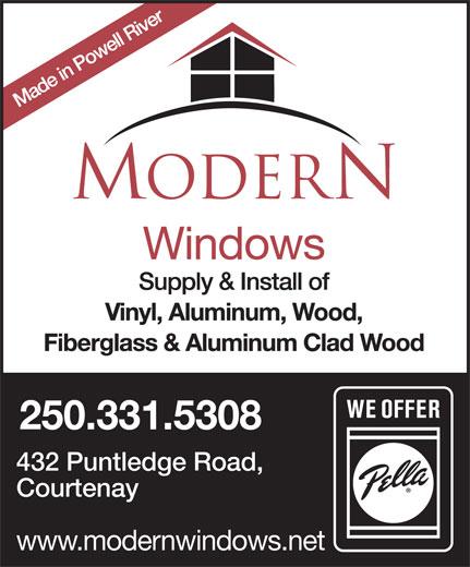 Modern (250-334-2599) - Annonce illustrée======= - 250.331.5308 432 Puntledge Road, Courtenay www.modernwindows.net