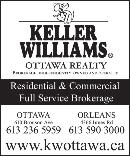 Keller Williams Realty Ottawa Realty (613-236-5959) - Display Ad -