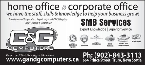 G&G Computers (902-843-3113) - Annonce illustrée======= -