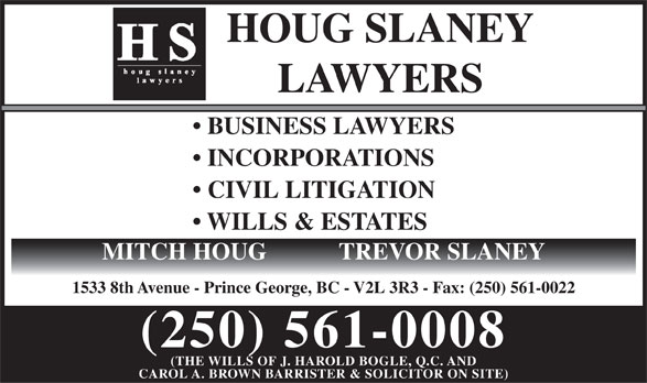 Houg Slaney (250-561-0008) - Display Ad -