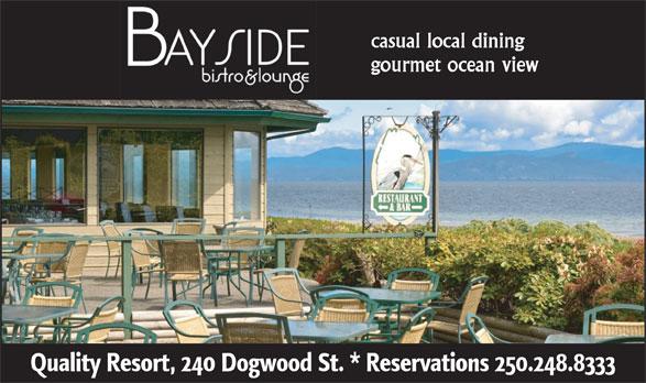Bayside Bistro & Lounge (250-248-8333) - Annonce illustrée======= -