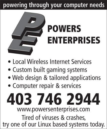 Powers Enterprises (403-746-2944) - Display Ad -