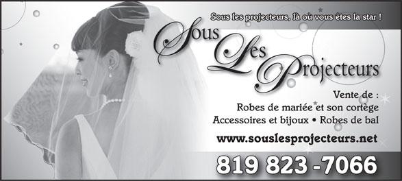 Sous Les Projecteurs (819-823-7066) - Display Ad -
