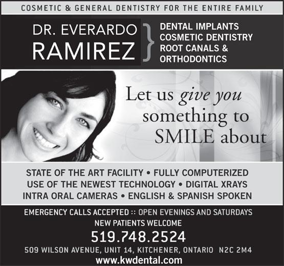 Ramirez E Dr (519-748-2524) - Annonce illustrée======= -