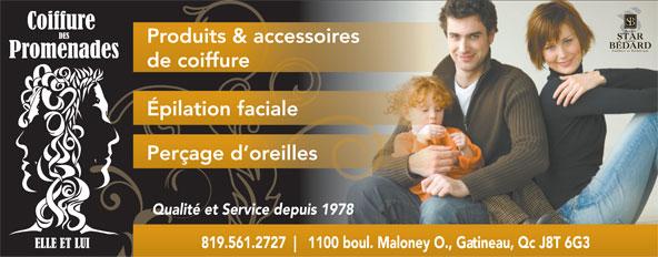 Coiffure Des Promenades Elle Et Lui (819-561-2727) - Annonce illustrée======= -