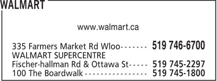 Walmart (519-746-6700) - Display Ad - www.walmart.ca
